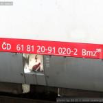 Bmz 229, 61 81 20-91 020-2, DKV Olomouc, Pardubice hl.n., 04.02.2015, označení