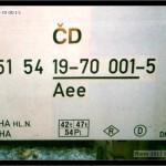 Aee147, 51 54 19-70 001-5, DKV Praha, Olomouc, nápisy na voze, (Scan starší fotografie)