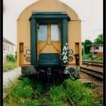 Měřící vůz trolejového vedení EL 44 646, původně ABa 2004, Úvaly, 10.07.2007, čelo vozu