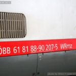WRmz 817, 61 81 88-90 205-9, 8.9.2015, označení
