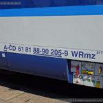 WRmz 817, 61 81 88-90 205-9, Czech Rail Days Ostrava 2016, 16.6.2016, označení