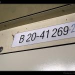B 256, 50 54 20-41 269-2, DKV Olomouc, 04.11.2011, označení