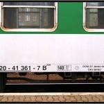 B 256, 50 54 20-41 361-7, DKV Brno, 10.04.2011, Bohumín, nápisy na voze