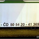B 256, 50 54 20-41 369-0, DKV Brno, 24.03.2011, Šumperk, nápisy na voze