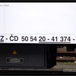 B 256, 50 54 20-41 374-0, DKV Brno, 15.03.2009, nápisy na voze