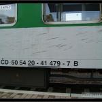 B 256, 50 54 20-41 479-7 DKV Brno, 23.07.2011, nápisy na voze
