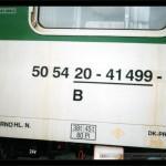 B 256, 50 54 20-41 499-5, DKV Brno, Olomouc-filiálka, označení - scan starší fotografie
