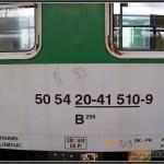 B 256, 50 54 20-41 510-9, DKV Olomouc, 10.04.2011, Praha Hl.n., nápisy na voze