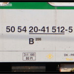 B 256, 50 54 20-41 512-5, DKV Olomouc, 13.05.2009, nápisy na voze