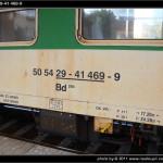 Bd 264, 50 54 29-41 469-9, DKV Brno, Sp 1774 Brno-Hodonín, nápisy na voze