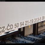 Bt 283, 50 54 21-19 313-5, DKV olomouc, označení na voze, Olomouc hl.n., 20.08.2012