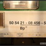 Bp 282, 50 54 21-08 456-5, DKV Plzeň, R 660 Brno-Plzeň,16.03.2011, nápisy na voze