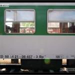 Bp 282, 50 54 21-08 457-3, DKV Plzeň, R 660 Brno-Plzeň, 13.06.2011, nápisy na voze