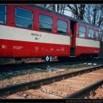 020 004-8, po vykolejení, Jeseník 03.04.2005, scan starší fotografie, část vozu