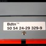 Bdtn 756, 50 54 21-29 329-9, DKV Praha, označení - chybný interval, R 1144, 27.02.2012