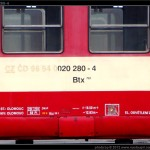 Btx 761, 020 280-4, DKV Olomouc, 15.03.2009, nápisy na voze