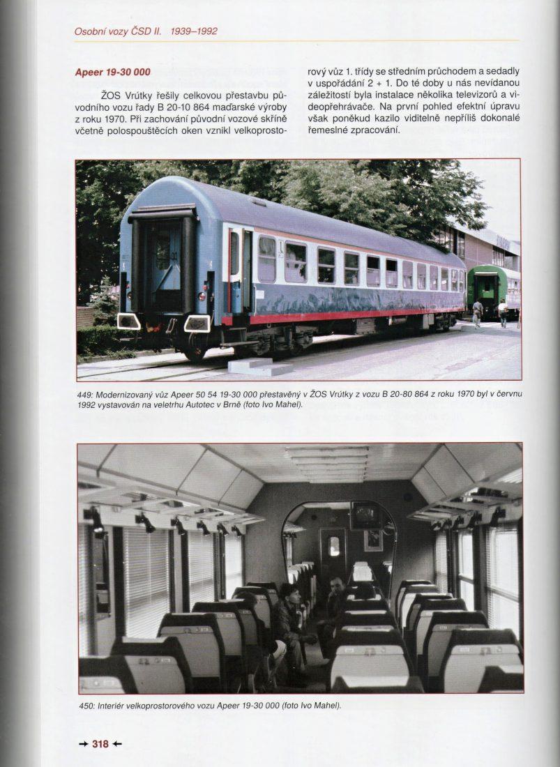Apeer 19-30 000; publikace Osobní vozy ČSD II. 1939-1992 (Mahel, Losos, Lutrýn, Malkovský 2019)